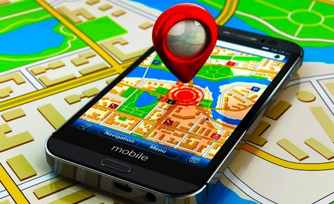метка на карте в телефоне
