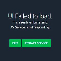 "Ошибка ""UI Failed to load Avast"" – что делать?"