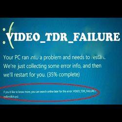 Устраняем ошибку VIDEO_TDR_FAILURE Windows 10