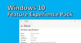 Инструкция по включению и отключению компонентов системы Windows 10