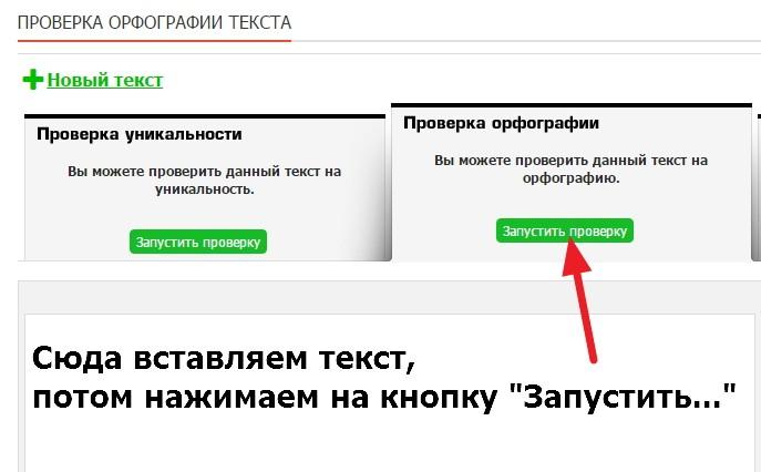 Онлайн проверка текста на ошибки в Text.ru